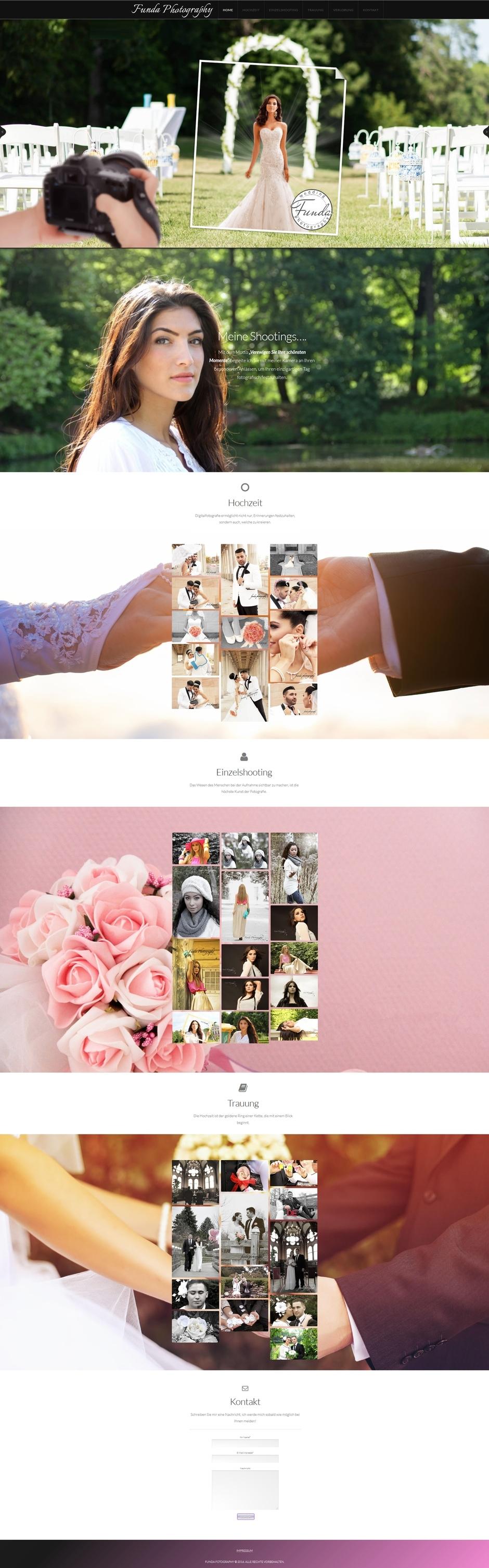 Homepage von Funda Photography
