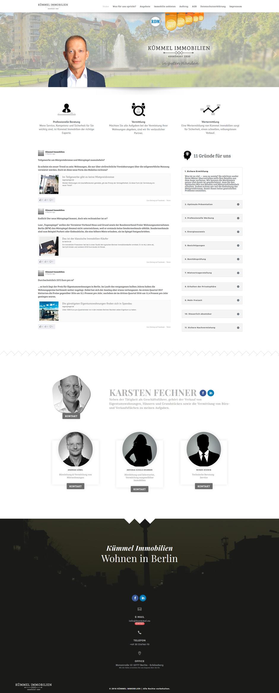 Homepage von Kümmel Immobilien