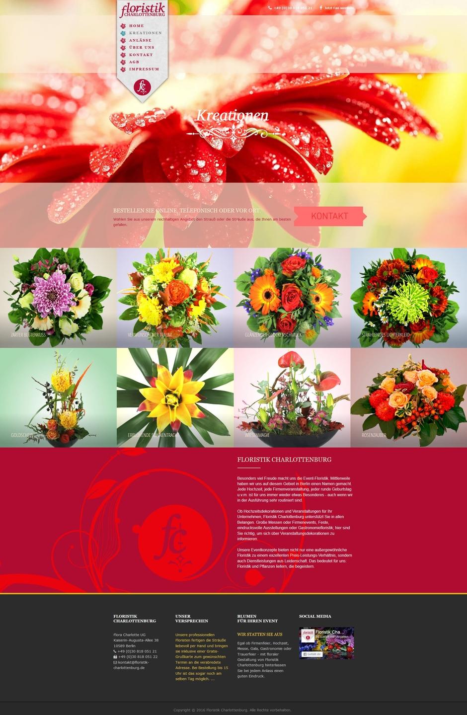 Homepage für Floristiker