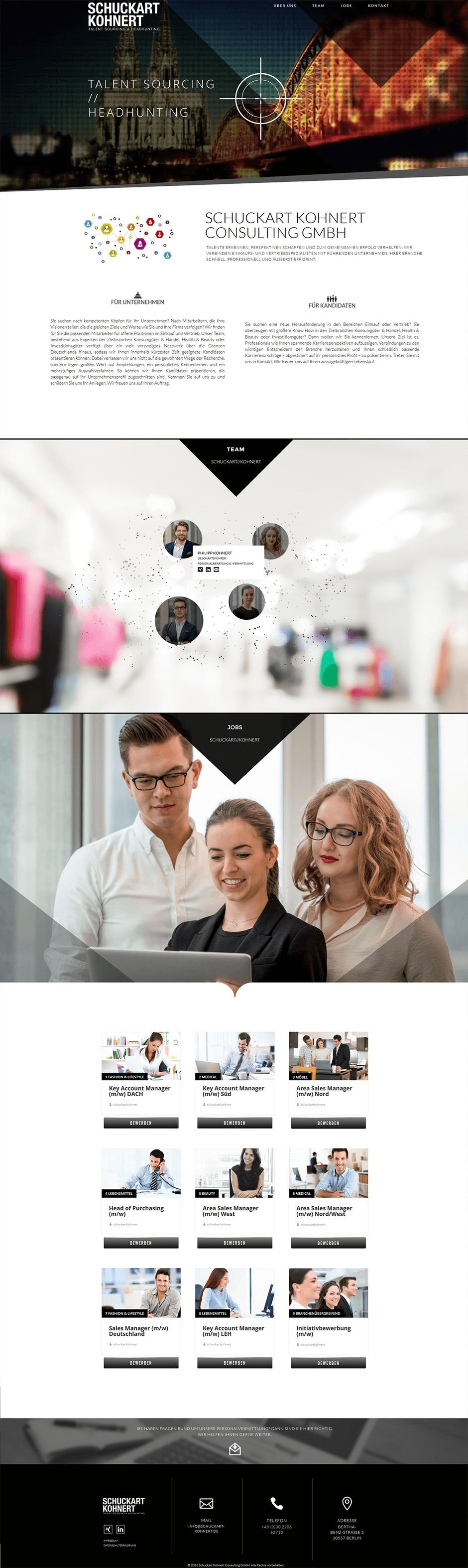 Homepage von Schuckart Kohnert Consulting
