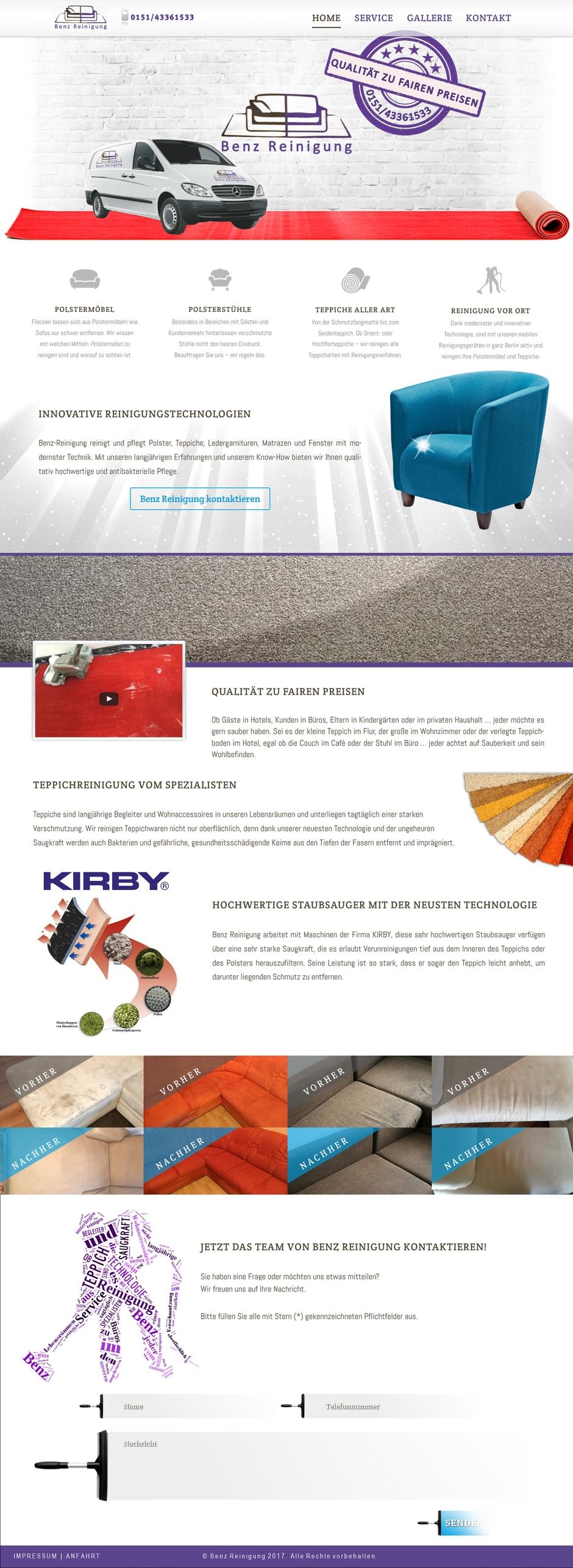 Homepage von Benz Reinigung