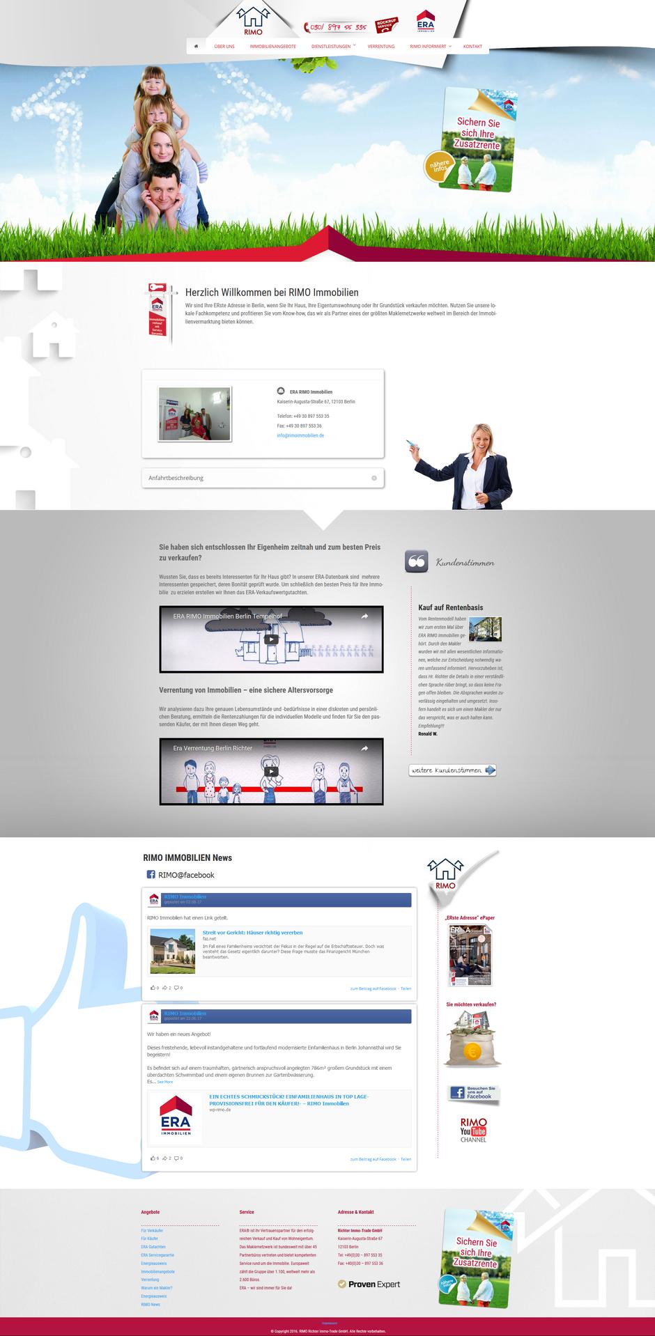 Homepage von Rimo Immobilien