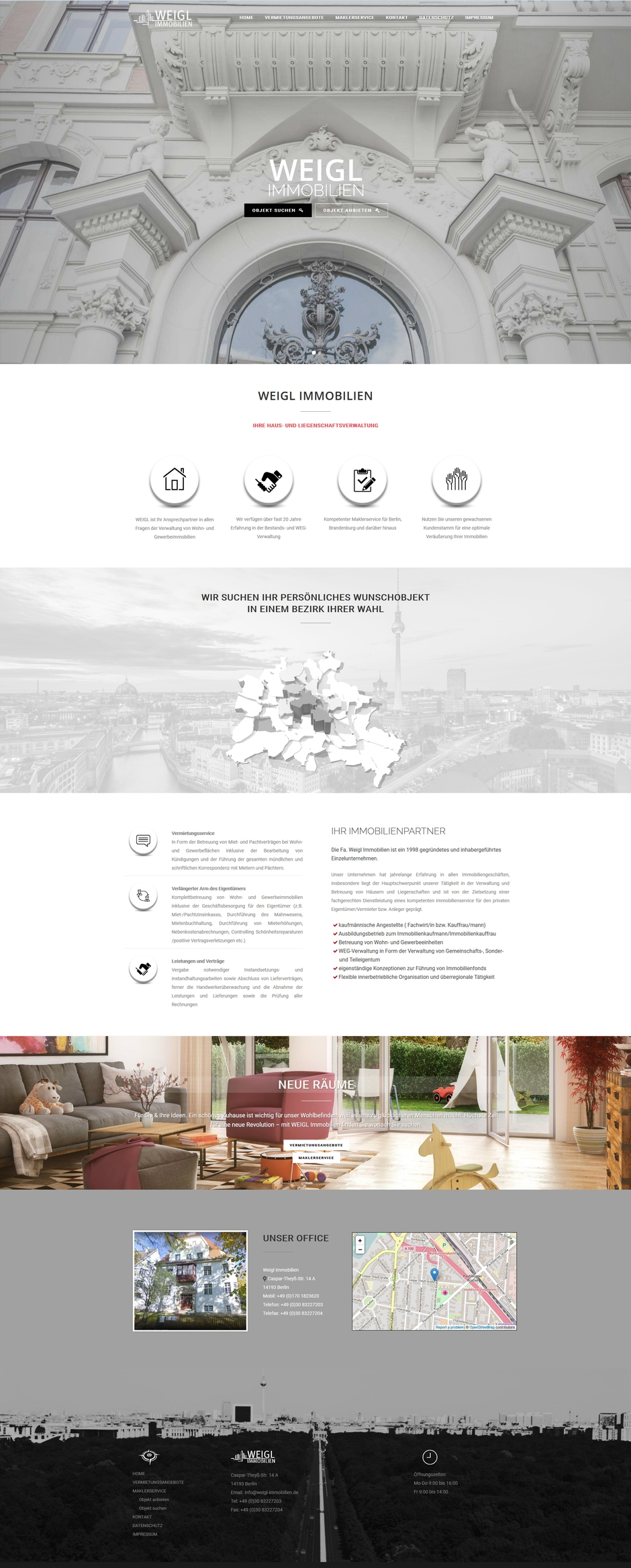 Homepage von Weigl Immobilien