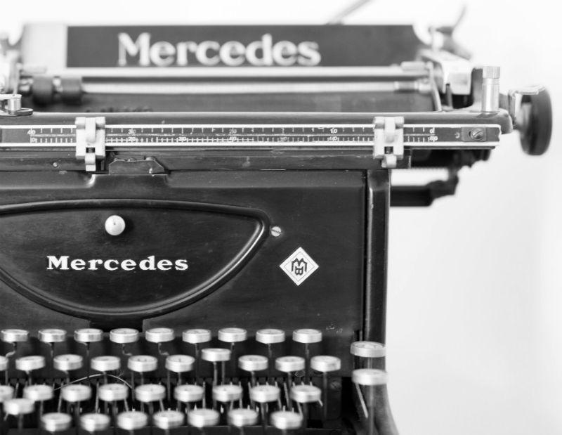 Schreibmaschine von Mercedes