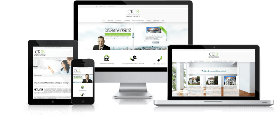 Mockup der Website CKIB.de