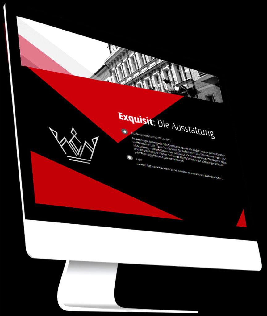 iMac mit Beispielwebsite