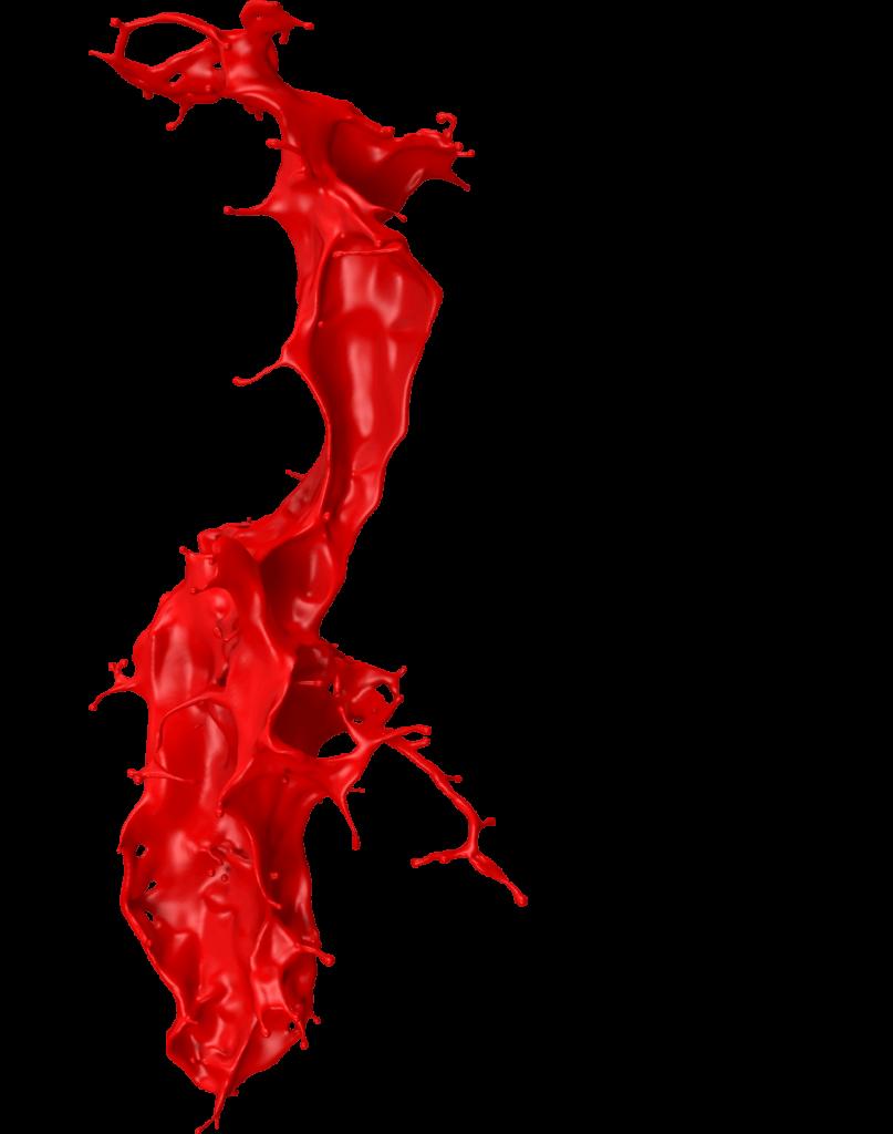 rote Farbspritzer