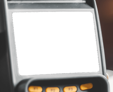 Kreditkartenlesegerät Bildschirm